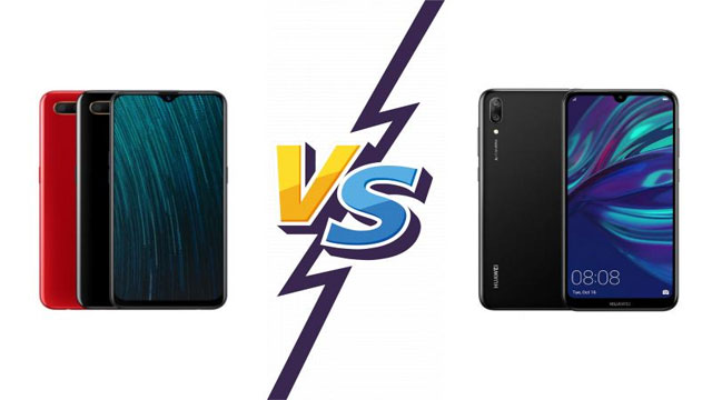 Perbedaan Spesifikasi Huawei Y7 Pro VS Oppo A5s