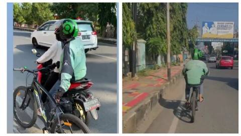 Viral Cewek Bawa Sepeda tapi Order Ojol, Akhirnya Malah Kocak